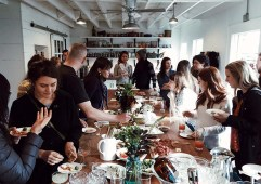 A community dinner at The Pantry (photo by Dan Fromhart)