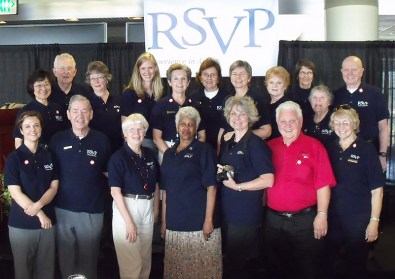 Harry Schreiber (front row, 2nd from left) in a 2010 RSVP Ambassadors & staff group shot