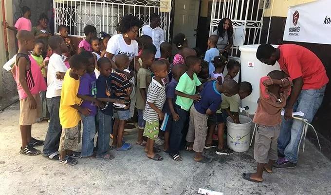 lavage des mains Haïti