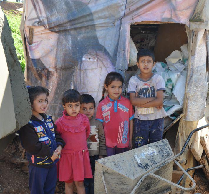 Enfants syriens refugiés liban