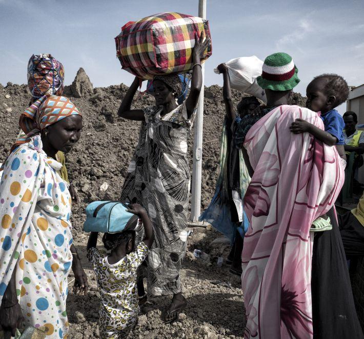 Soudan du sud Réfugiées Malakal