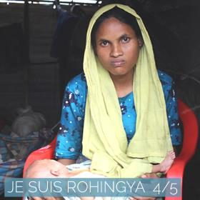 femme rohingya bébé