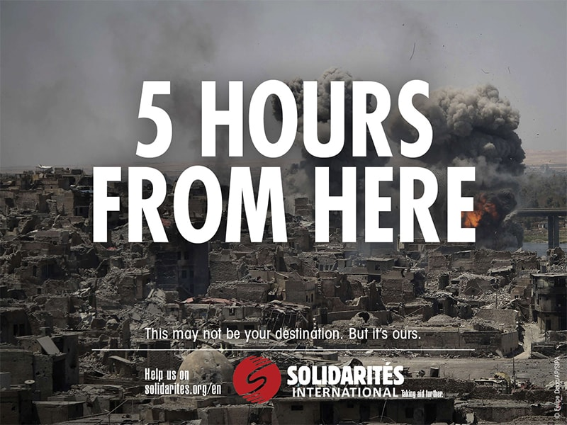 Campaign Solidarites International 5 hours from here