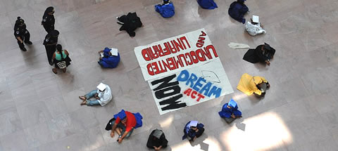 students hold DREAM Act sit-in