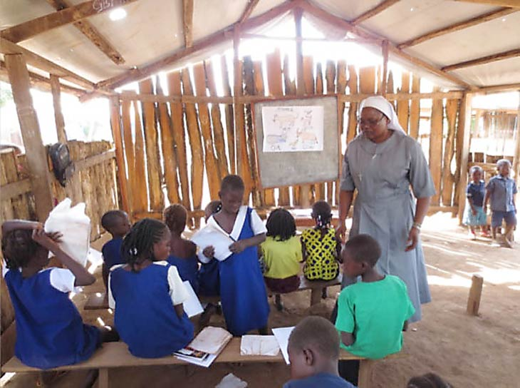 African school classroom of children