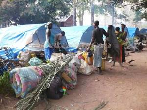 South Sudan refugees in tent city