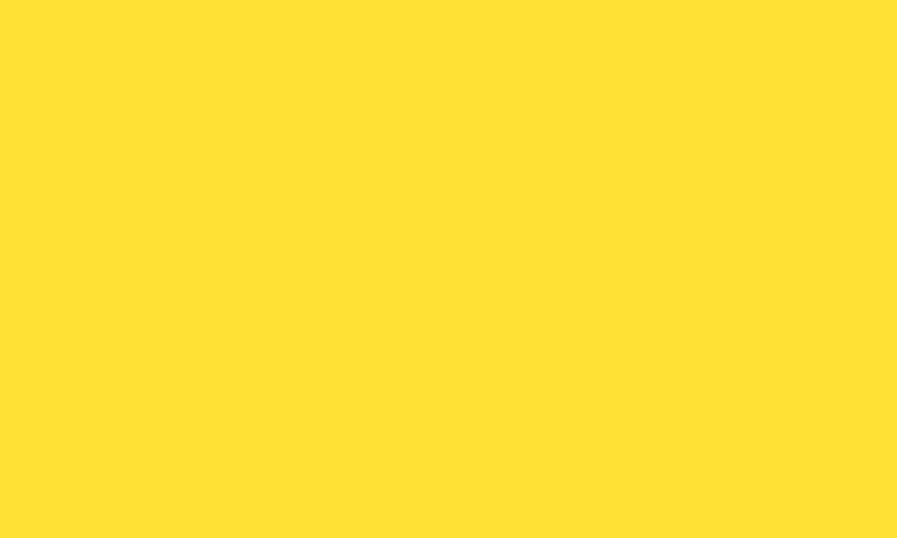 1280x768 Banana Yellow Solid Color Background