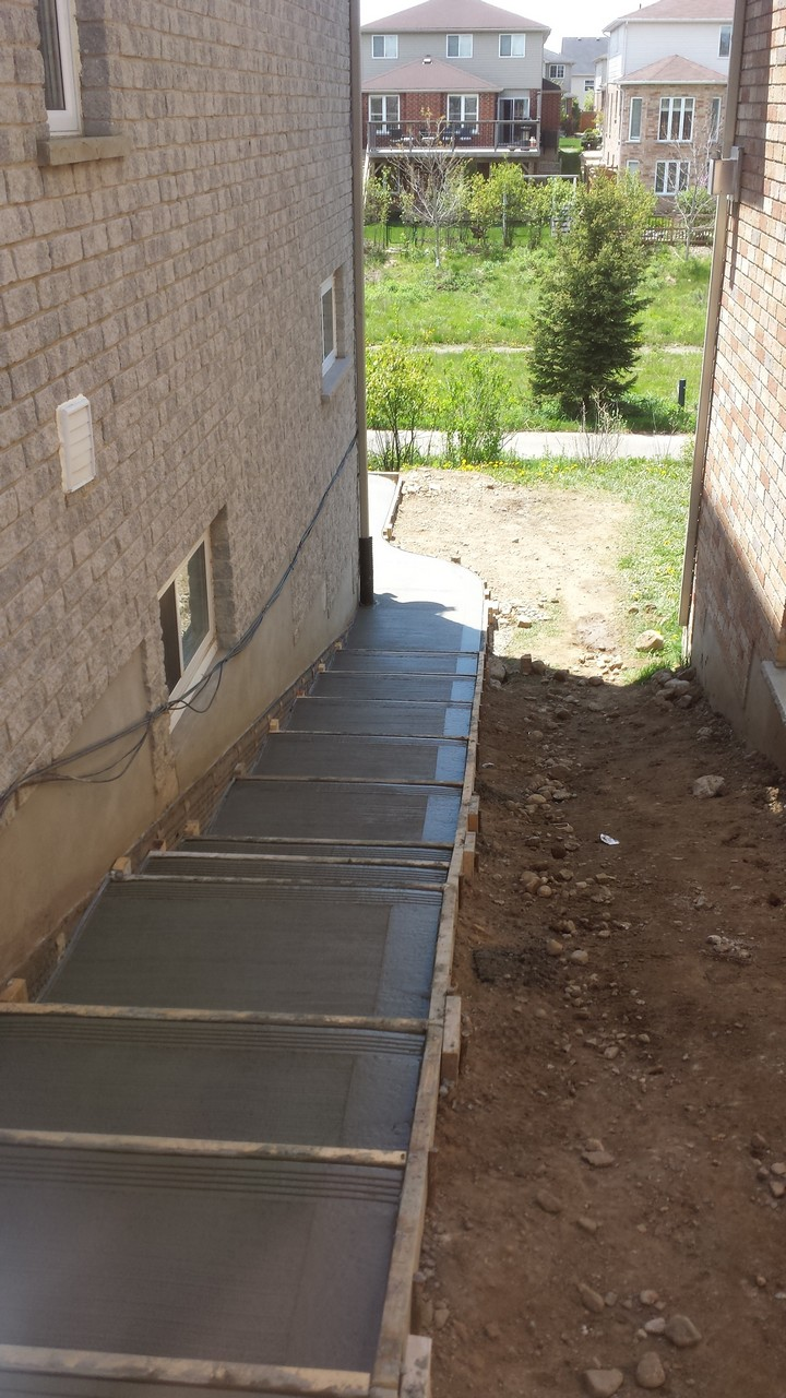 Side House Stairs And Patio Solid Concrete Solutions