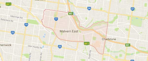 Malvern East - 3145 map