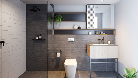 Trilby apartment bathroom