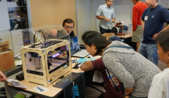 3D Printer with Wooden Frame