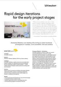 Ultimaker HoneyBEE Robotics Case Study Preview