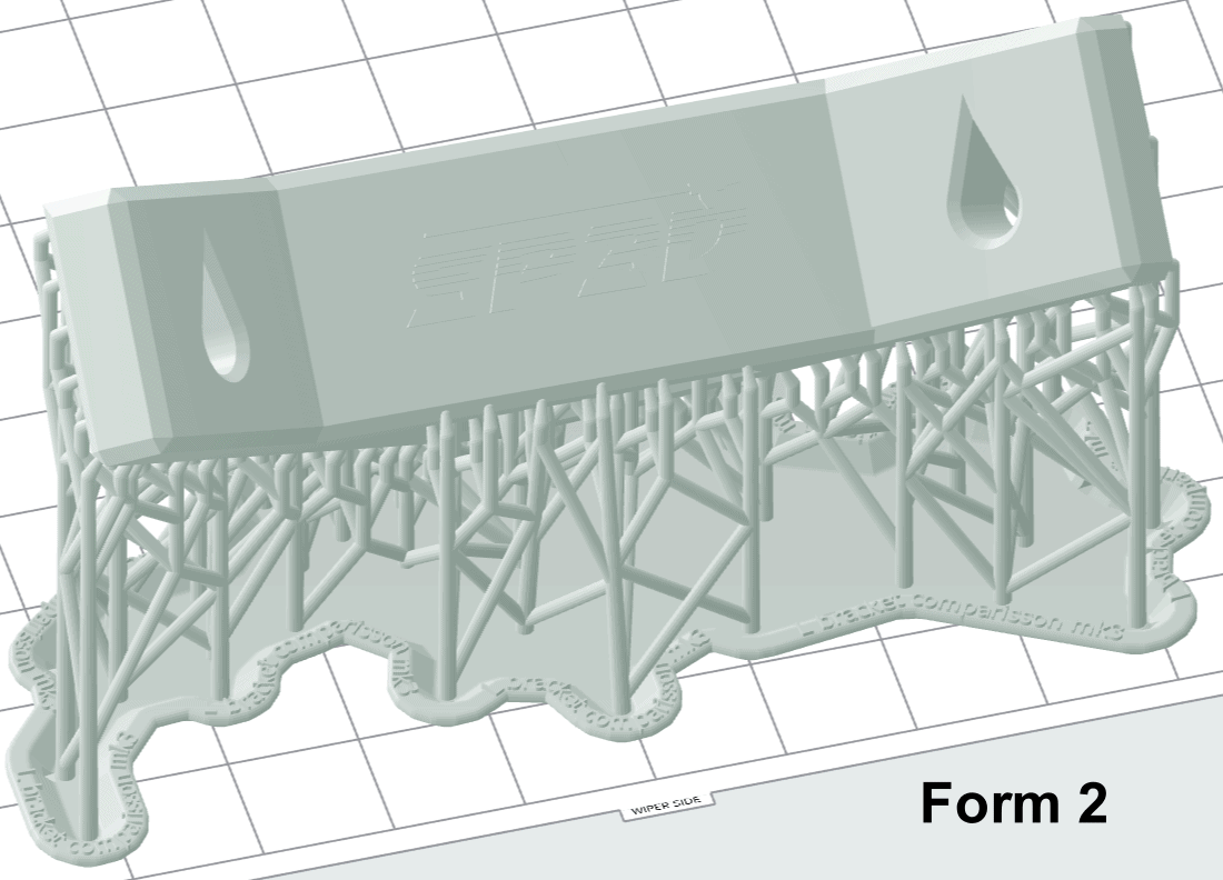 Form 2 positioned part to help with print time
