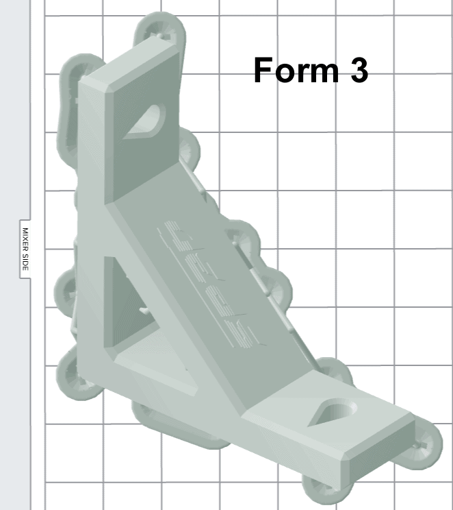 Form 3 positioned part to help with print time