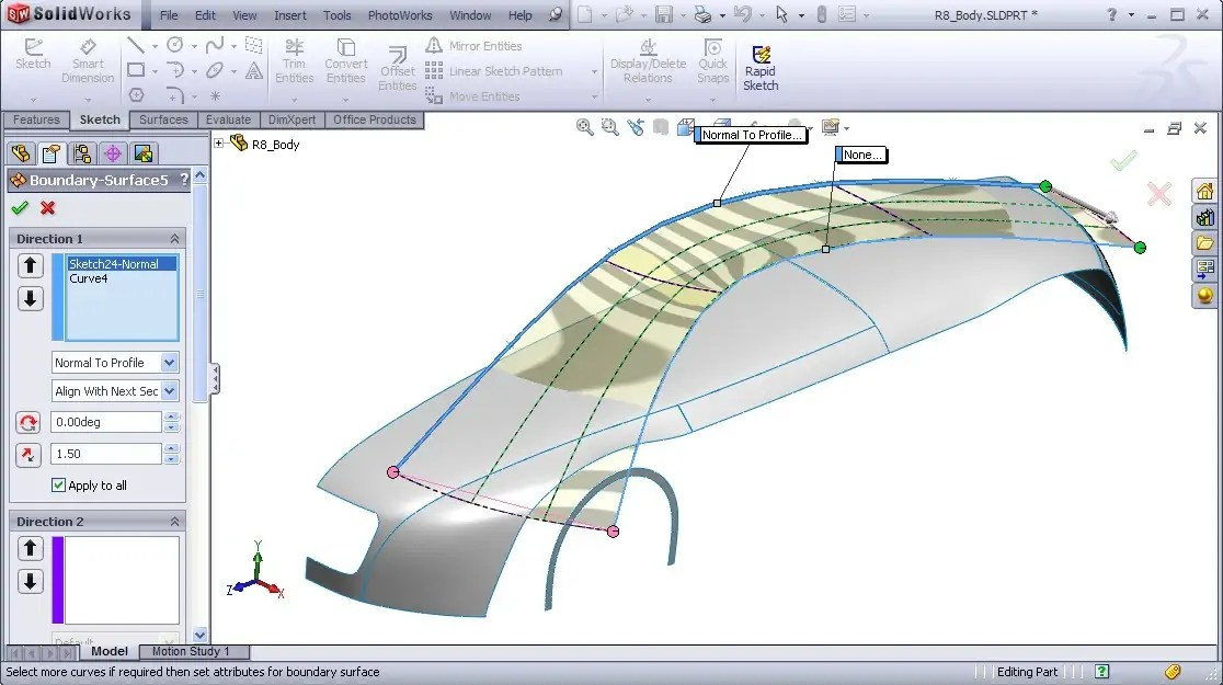 Solidworks audi r8 video tutorial iso