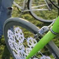 Laser Cut Design for a Slick Bicycle Wheel Animation