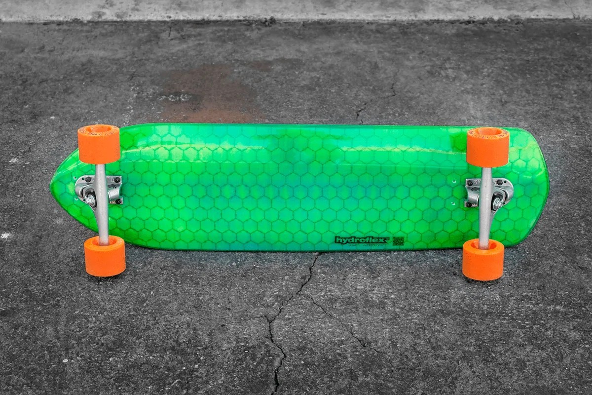 Hydroflex Skateboards Are The Sweet High Tech Ride With