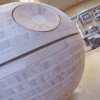 Frank Howarth Celebrated Star Wars Day by Turning a Wood Death Star on a Lathe