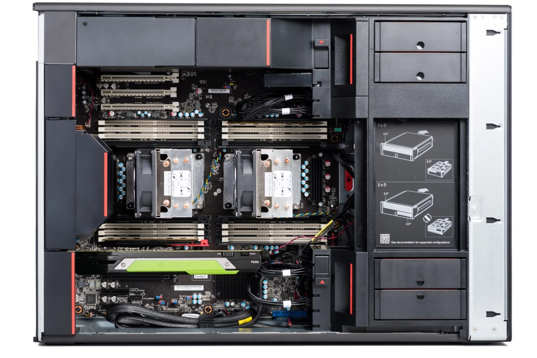 ThinkStation P920 Internal layout