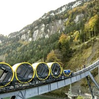 The Stoosbahn Opens as the World's Steepest Funicular Tram