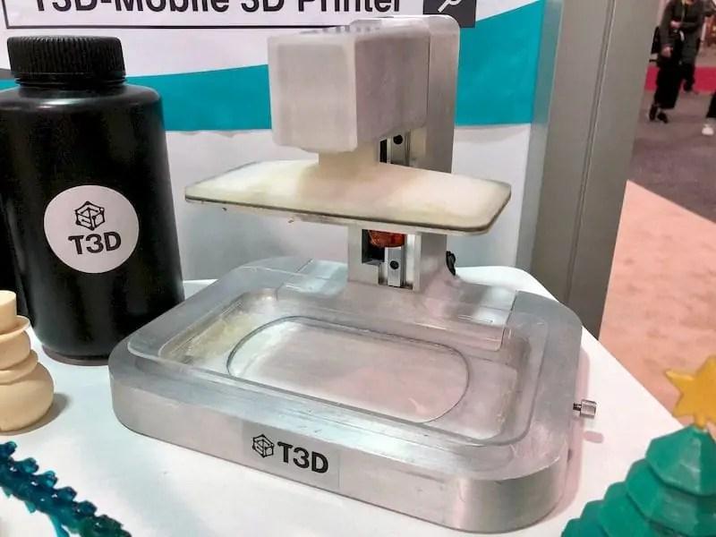 The amazingly simple T3D desktop 3D printer