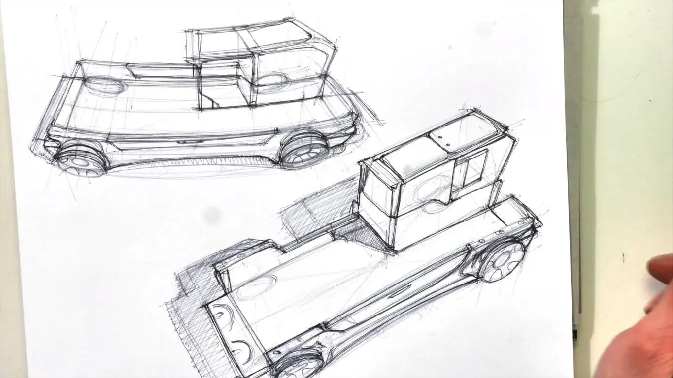 Tucker Truck Design Concept Sketch