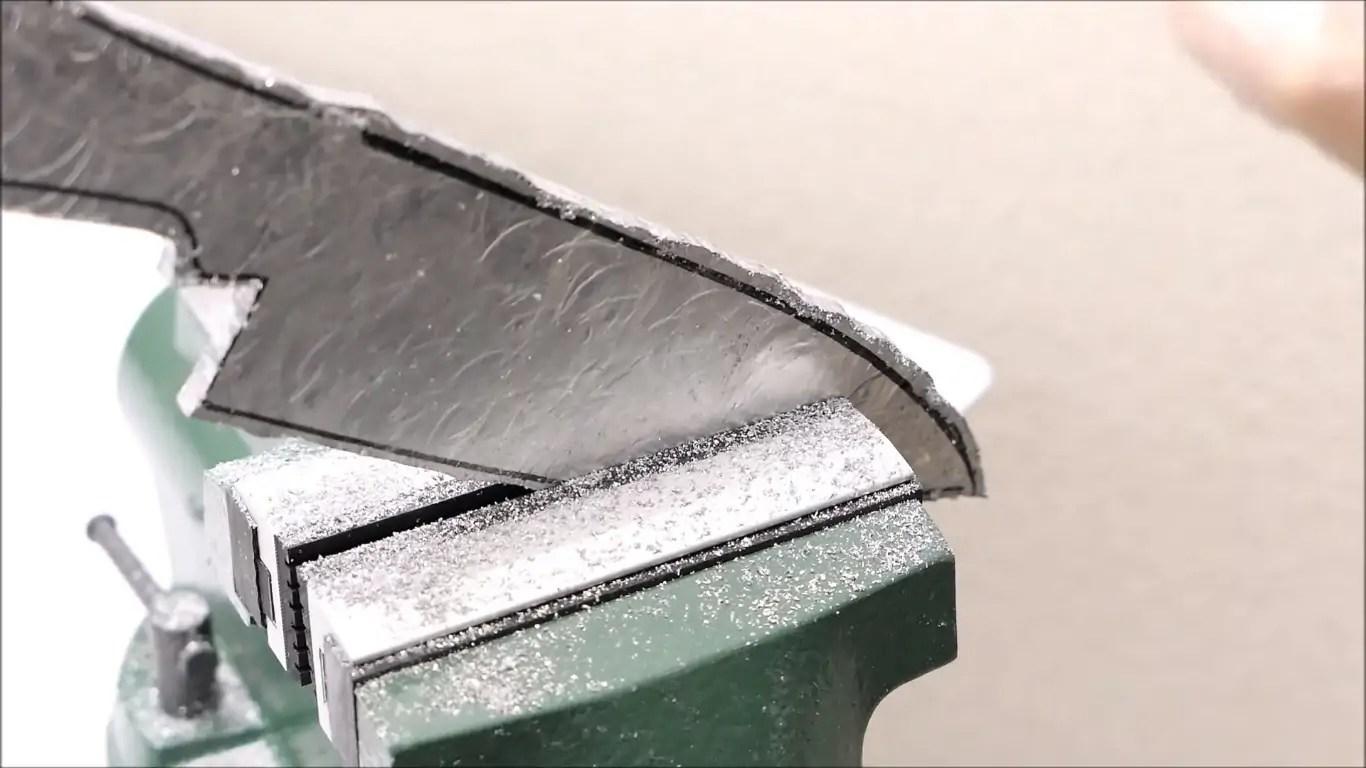 aluminum foil kitchen knife
