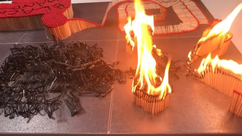 Matchstick Domino Reaction