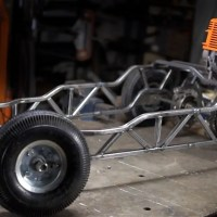 The Chainsaw-Powered Go-Kart Finally Gets A Complete Frame (Part 2)