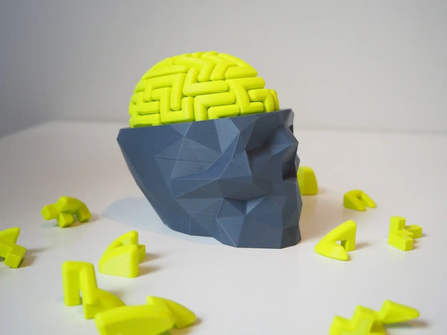fcf45a5e66c Model of the Week: 3D Brain Puzzle + Low Poly Skull [My Thinks ...