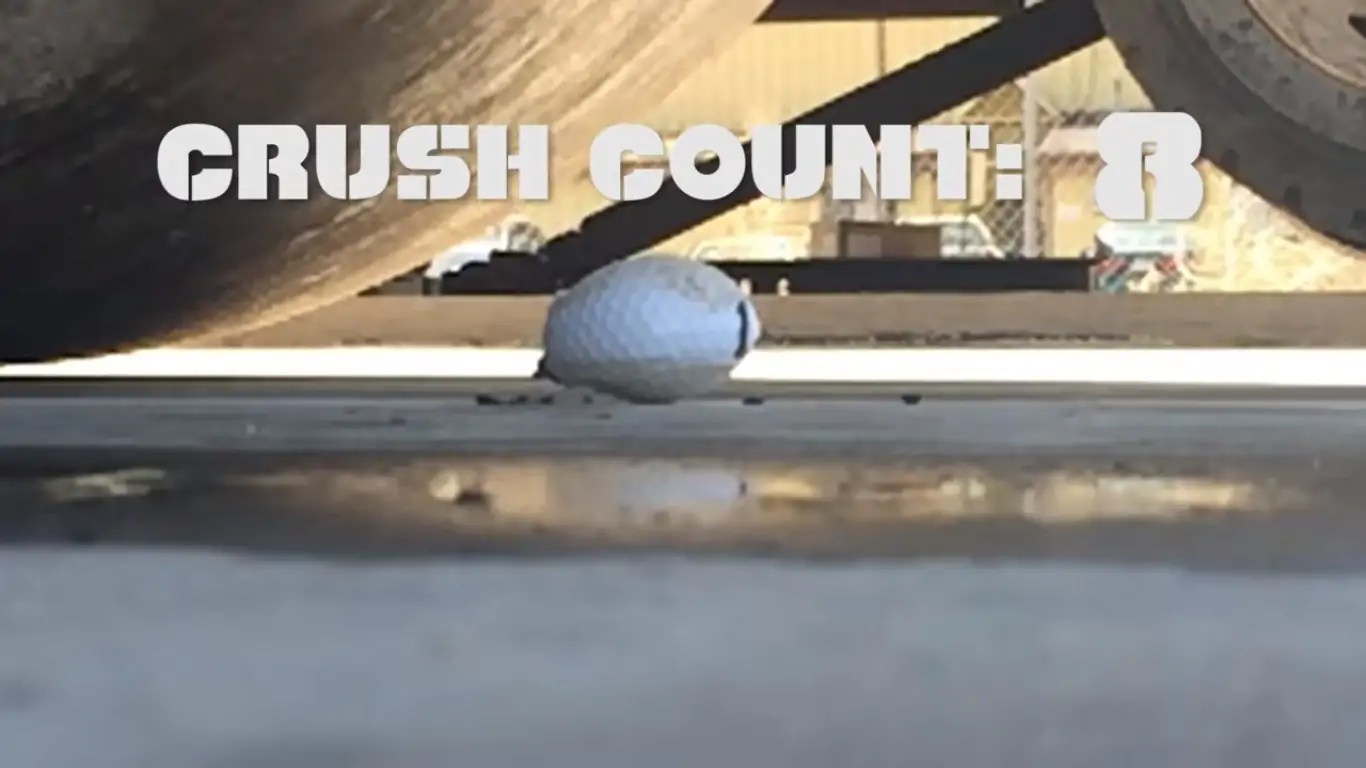 Steamroller vs golf balls