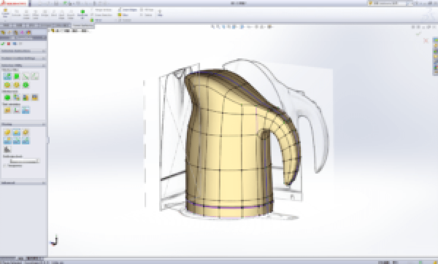 Un-real 3d - SolidWorks Corsi - Power Surfacing for SolidWorks - Freeform Organic Shape for SolidWorks_01