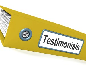 Testimonials File Shows Recommendations And Reviews