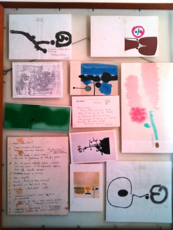 A collection of rare postcards and doodles by Victor Pasmore (student of Pablo Picasso) - 1970's
