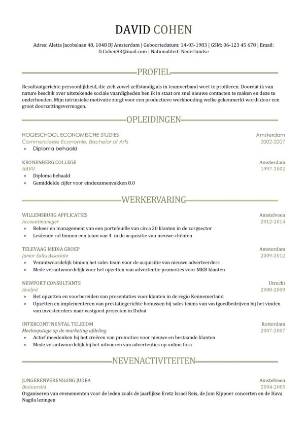 CV Voorbeeld Sheffield 1/2, pagina 2, gratis cv, gray clean, professioneel