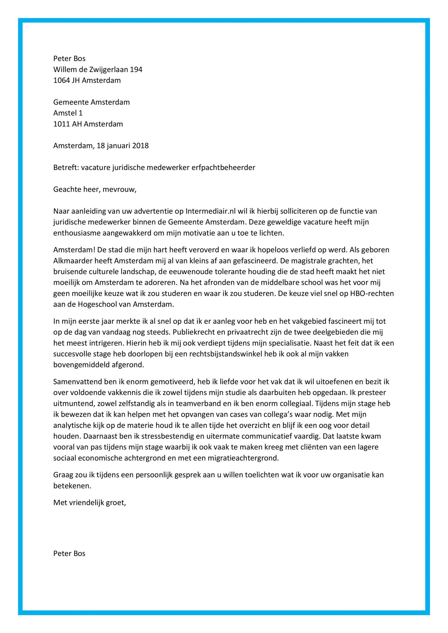 motivatiebrief stage advocatenkantoor Sollicitatiebrief Stage Advocatenkantoor | Voorbeeldbrief 2019