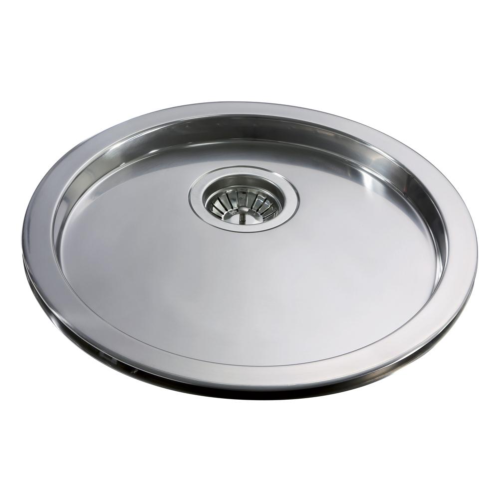cda kitchen stainless steel sink round drainer kr20ss