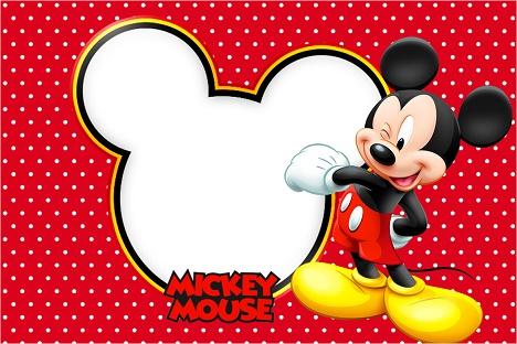 Invitaciones De Baby Shower De Mickey Mouse Bebe Para Imprimir
