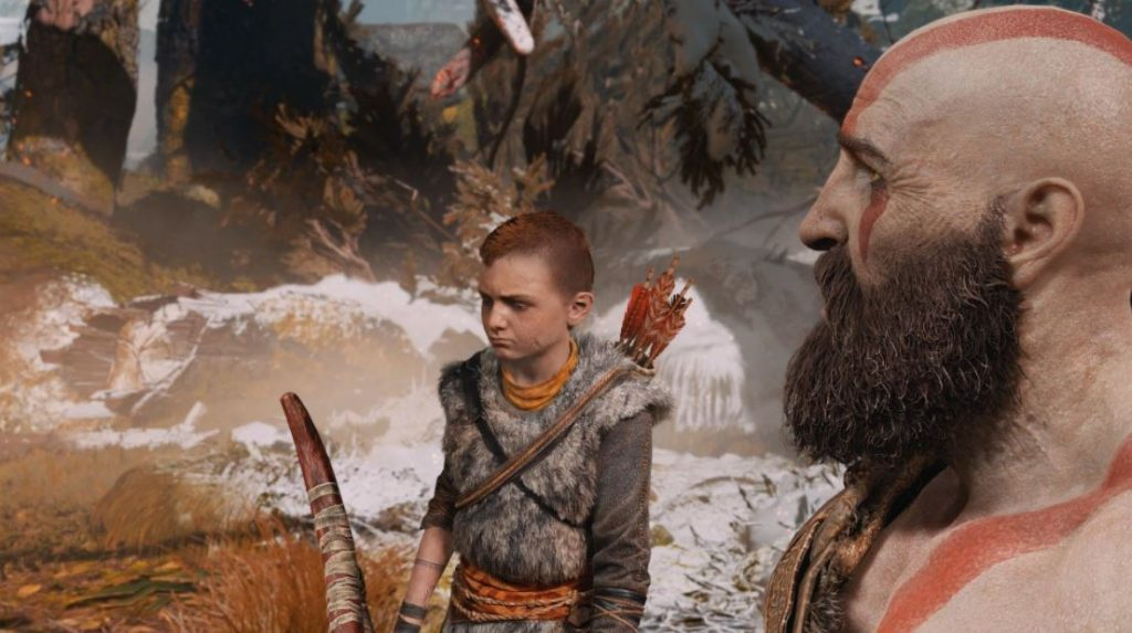 God-of-War-2018-Reseña-PS4-Atreus-aprendiendo-a-cazar