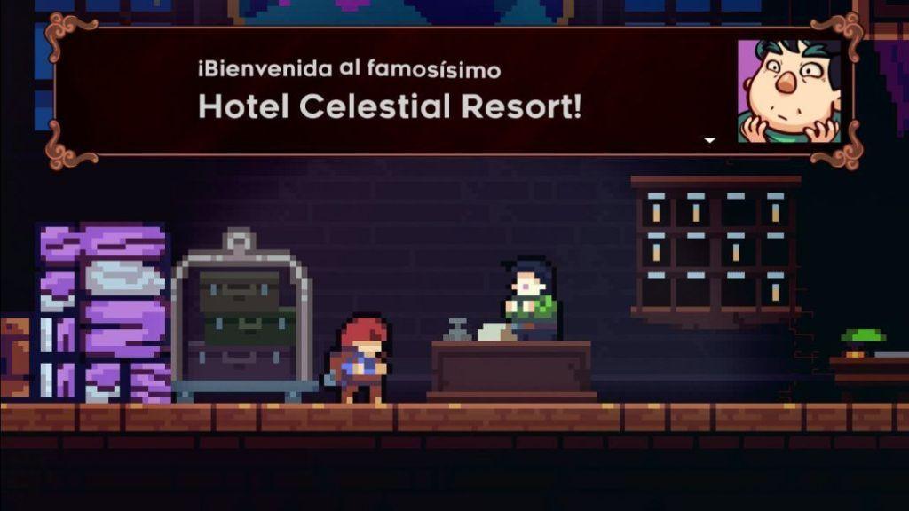 Celeste hotel nivel del hotel celestial resort fantasma wallpaper reseña sin spoilers análisis lo mejor y lo peor vale la pena