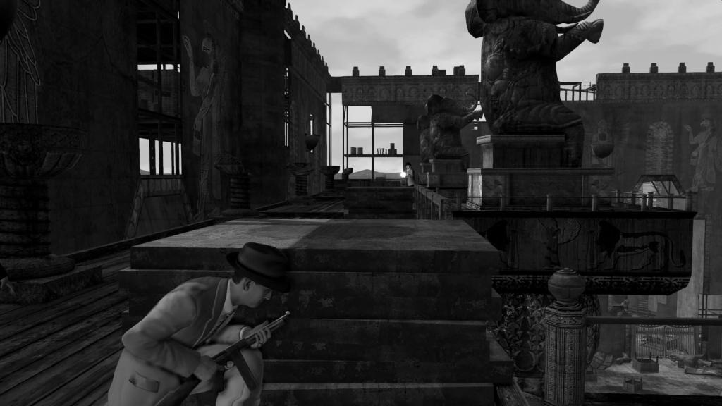 LA Noire screenshots capturas filtro blanco y negro, noir, black and white (9)
