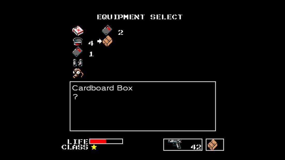 Metal-Gear-1987-screenshots-resena-equipment-select