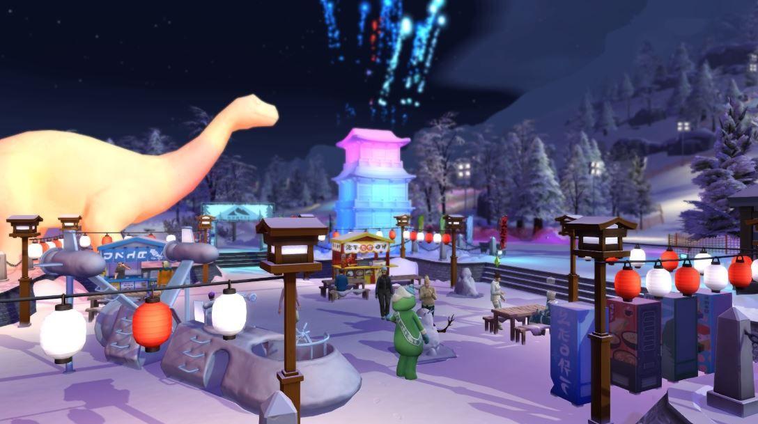 Los-Sims-4-Escapada-en-la-Nieve-screenshots-resena-festival-de-la-nieve