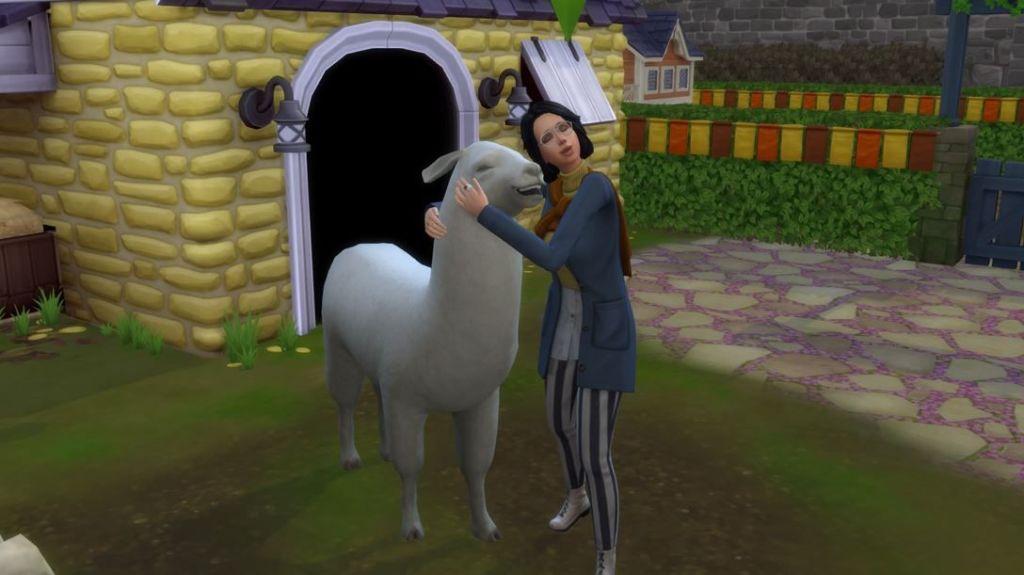 Los-Sims-4-Vida-en-el-pueblo-lllamas-screenshots