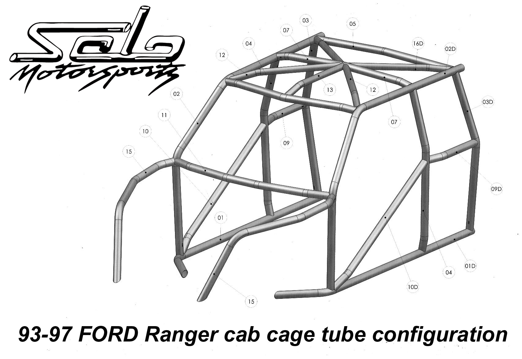 Race Legal Roll Cage Ford Ranger