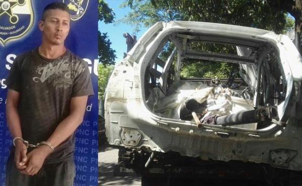 Capturan a desmantelador de autos robados en San Miguel