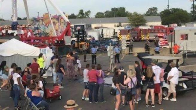Un muerto y siete heridos dejó terrible accidente en una atracción mecánica, en Ohio