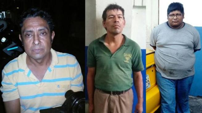 Capturan a tres hombres en San Salvador por el delito de robo, estupro y daños