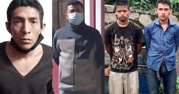 Cuatro pandilleros capturados en diferentes procedimientos en La Libertad