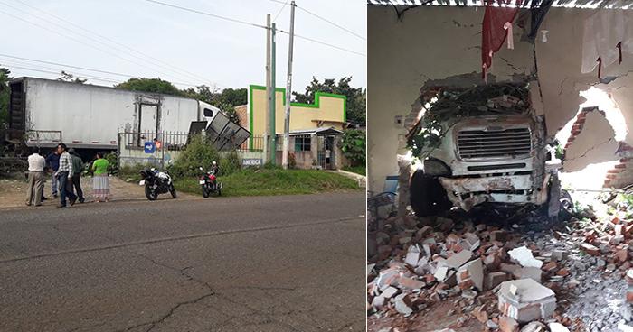 Rastra se estrella contra una iglesia en Ahuachapán